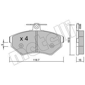 Bremsbelagsatz, Scheibenbremse Dicke/Stärke 1: 16,0mm mit OEM-Nummer 1HM 698 151A