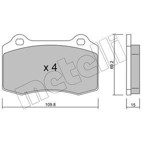 Bremsbelagsatz, Scheibenbremse Dicke/Stärke 1: 15,0mm mit OEM-Nummer 3068385-8