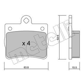 Bremsbelagsatz, Scheibenbremse Dicke/Stärke 1: 15,5mm mit OEM-Nummer A002 420 5120