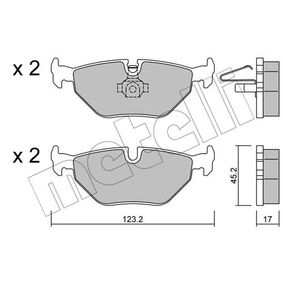 Bremsbelagsatz, Scheibenbremse Dicke/Stärke 1: 17,0mm mit OEM-Nummer 3421 1164 501