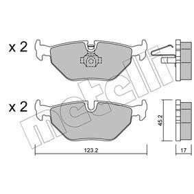 METELLI  22-0261-0 Bremsbelagsatz, Scheibenbremse Dicke/Stärke 1: 17,0mm