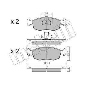 Bremsbelagsatz, Scheibenbremse Dicke/Stärke 1: 18,0mm mit OEM-Nummer 9949125