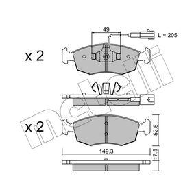 Kit pastiglie freno, Freno a disco Spessore 1: 17,5mm con OEM Numero 77 366 538