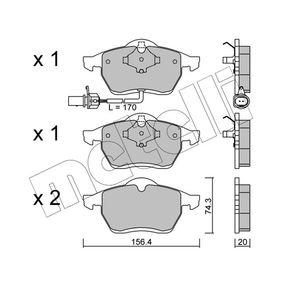 Bremsbelagsatz, Scheibenbremse Dicke/Stärke 1: 20,0mm mit OEM-Nummer 1 143 349