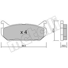 Bremsbelagsatz, Scheibenbremse Dicke/Stärke 1: 13,5mm mit OEM-Nummer G5Y5-2643Z