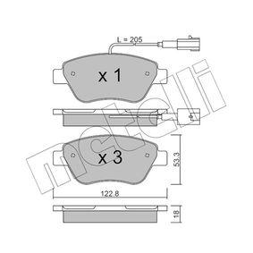 Bremsbelagsatz, Scheibenbremse Dicke/Stärke 1: 18,0mm mit OEM-Nummer 77362091