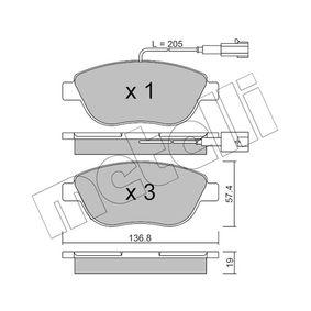 Bremsbelagsatz, Scheibenbremse Dicke/Stärke 1: 19,0mm mit OEM-Nummer 7 736 271-2