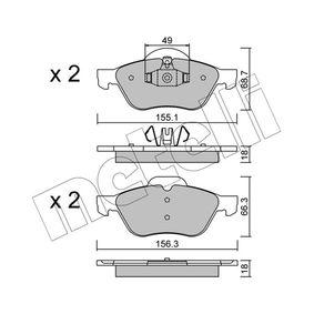 Bremsbelagsatz, Scheibenbremse 22-0335-1 TWINGO 2 (CN0) 1.6 RS Bj 2020