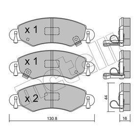 Bremsbelagsatz, Scheibenbremse Dicke/Stärke 1: 16,0mm mit OEM-Nummer 4704 578