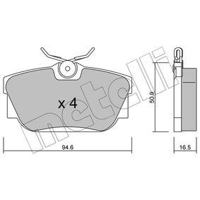 Bremsbelagsatz, Scheibenbremse Dicke/Stärke 1: 16,5mm mit OEM-Nummer 7D0698451