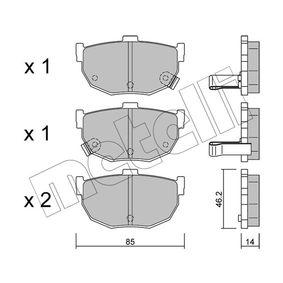 2007 Hyundai Coupe gk 2.7 V6 Brake Pad Set, disc brake 22-0362-0