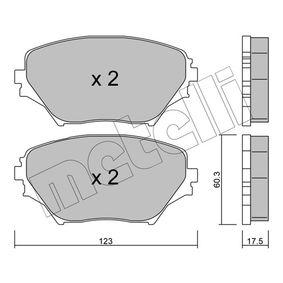 Bremsbelagsatz, Scheibenbremse Dicke/Stärke 1: 17,5mm mit OEM-Nummer 04465-42130