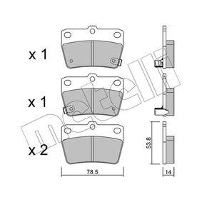 Brake Pad Set, disc brake 22-0431-0 RAV 4 II (CLA2_, XA2_, ZCA2_, ACA2_) 2.0 D 4WD (CLA20_, CLA21_) MY 2001