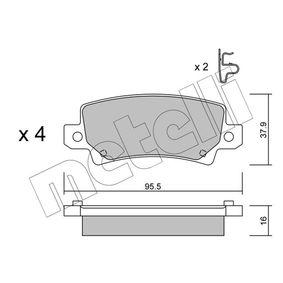 Bremsbelagsatz, Scheibenbremse Dicke/Stärke 1: 16,0mm mit OEM-Nummer 04466 02 020