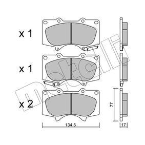 Bremsbelagsatz, Scheibenbremse Dicke/Stärke 1: 17,0mm mit OEM-Nummer 04465 35 290