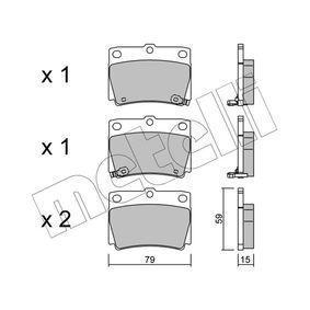 METELLI  22-0484-0 Bremsbelagsatz, Scheibenbremse Dicke/Stärke 1: 15,0mm