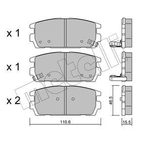 Bremsbelagsatz, Scheibenbremse Dicke/Stärke 1: 15,5mm mit OEM-Nummer 58302H1A00