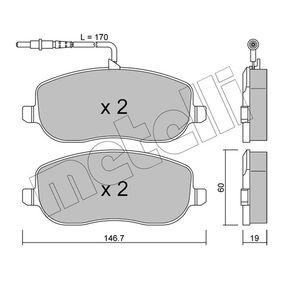 Bremsbelagsatz, Scheibenbremse Dicke/Stärke 1: 19,0mm mit OEM-Nummer 77362236