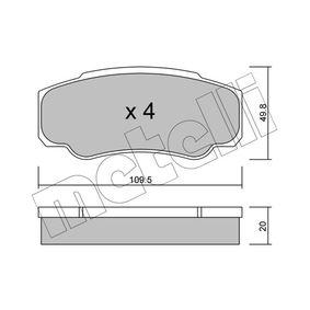 Bremsbelagsatz, Scheibenbremse Dicke/Stärke 1: 20,0mm mit OEM-Nummer 4254.68