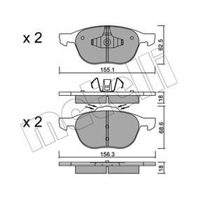 Bremsbelagsatz, Scheibenbremse Dicke/Stärke 1: 18,0mm mit OEM-Nummer 3134130-1