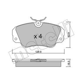 Bremsbelagsatz, Scheibenbremse Dicke/Stärke 1: 18,5mm mit OEM-Nummer 16 05 004