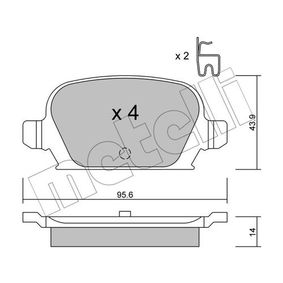 Bremsbelagsatz, Scheibenbremse Dicke/Stärke 1: 14,0mm mit OEM-Nummer 9 200 132