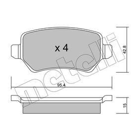 Brake Pad Set, disc brake 22-0542-1 Astra Mk5 (H) (A04) 1.7 CDTI MY 2007