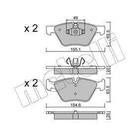 Bremsbelagsatz, Scheibenbremse Breite 2: 155,1mm, Höhe 2: 63,5mm, Dicke/Stärke 2: 20,0mm mit OEM-Nummer 34 11 6 797 859