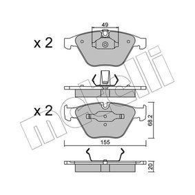 Bremsbelagsatz, Scheibenbremse Dicke/Stärke 1: 20,0mm mit OEM-Nummer 3411 6 776 161