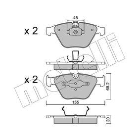 Bremsbelagsatz, Scheibenbremse Dicke/Stärke 1: 20,0mm mit OEM-Nummer 34 11 6 776 161