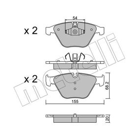 METELLI  22-0558-6 Bremsbelagsatz, Scheibenbremse Dicke/Stärke 1: 20,0mm