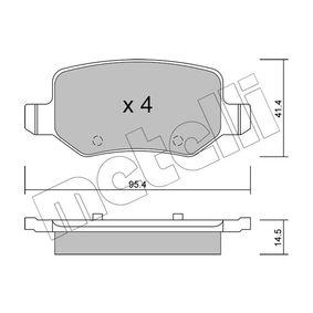 Bremsbelagsatz, Scheibenbremse Dicke/Stärke 1: 14,5mm mit OEM-Nummer A 169 420 17 20