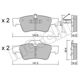 Комплект спирачно феродо, дискови спирачки 22-0568-1 M-класа (W164) ML 320 CDI 3.0 4-matic (164.122) Г.П. 2009