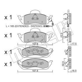 Bremsbelagsatz, Scheibenbremse Höhe 2: 77,2mm, Dicke/Stärke 1: 16,5mm, Dicke/Stärke 2: 17,5mm mit OEM-Nummer 163420 03 20