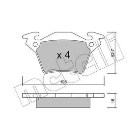 Bremsbelagsatz, Scheibenbremse Dicke/Stärke 1: 18,0mm mit OEM-Nummer A 0004214210