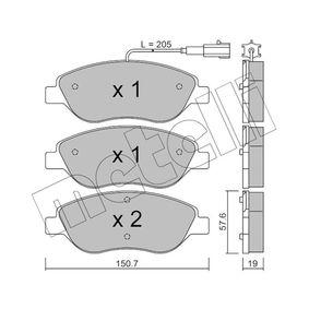 Bremsbelagsatz, Scheibenbremse Dicke/Stärke 1: 19,0mm mit OEM-Nummer 9949279