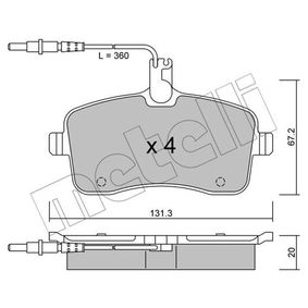 Bremsbelagsatz, Scheibenbremse Dicke/Stärke 1: 20,0mm mit OEM-Nummer 425 332