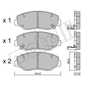 2006 Honda CR-V Mk2 2.2 CTDi (RD9) Brake Pad Set, disc brake 22-0606-0