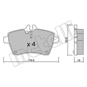 Bremsbelagsatz, Scheibenbremse Dicke/Stärke 1: 19,0mm mit OEM-Nummer 169420 02 20