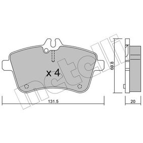 Brake Pad Set, disc brake Thickness 1: 20,0mm with OEM Number A1694200120