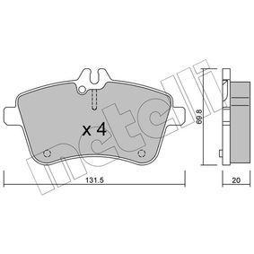 2008 Mercedes W169 A 200 CDI 2.0 (169.008, 169.308) Brake Pad Set, disc brake 22-0647-0
