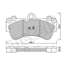 Brake Pad Set, disc brake Thickness 1: 16,5mm with OEM Number 7L6 698 151 F