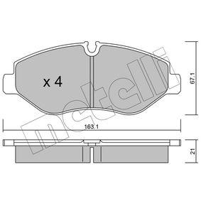 Bremsbelagsatz, Scheibenbremse Dicke/Stärke 1: 21,0mm mit OEM-Nummer 2E0 698 151