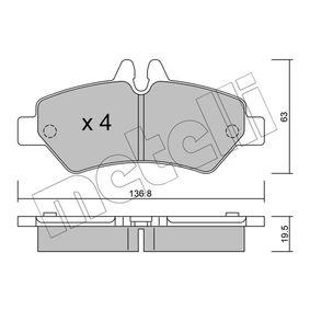 Bremsbelagsatz, Scheibenbremse Dicke/Stärke 1: 19,5mm mit OEM-Nummer A004 420 69 20