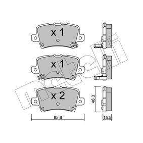 Brake Pad Set, disc brake 22-0729-0 CIVIC 8 Hatchback (FN, FK) 2.2 CTDi (FK3) MY 2014