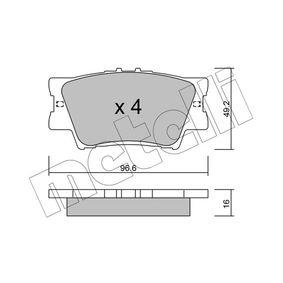 Bremsbelagsatz, Scheibenbremse Dicke/Stärke 1: 16,0mm mit OEM-Nummer 0446606090