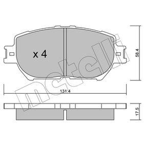 Bremsbelagsatz, Scheibenbremse Dicke/Stärke 1: 17,5mm mit OEM-Nummer 04465 33250