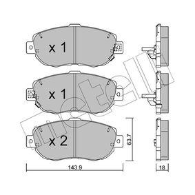 Bremsbelagsatz, Scheibenbremse Dicke/Stärke 1: 17,5mm mit OEM-Nummer 0446530320