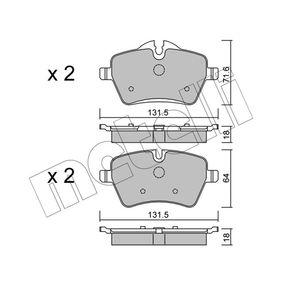 Bremsbelagsatz, Scheibenbremse Breite 2: 131,5mm, Höhe 2: 64,0mm, Dicke/Stärke 2: 18,0mm mit OEM-Nummer 34116778320