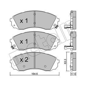 Bremsbelagsatz, Scheibenbremse Dicke/Stärke 1: 17,5mm mit OEM-Nummer 5 810 14 DE00